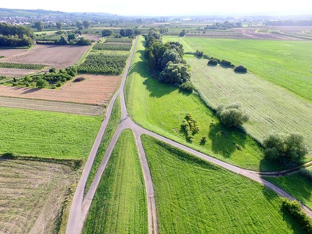 záběr z dronu