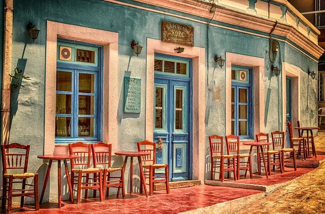 kavárna v řecku