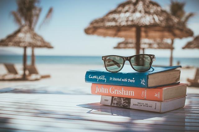 četba na pláž